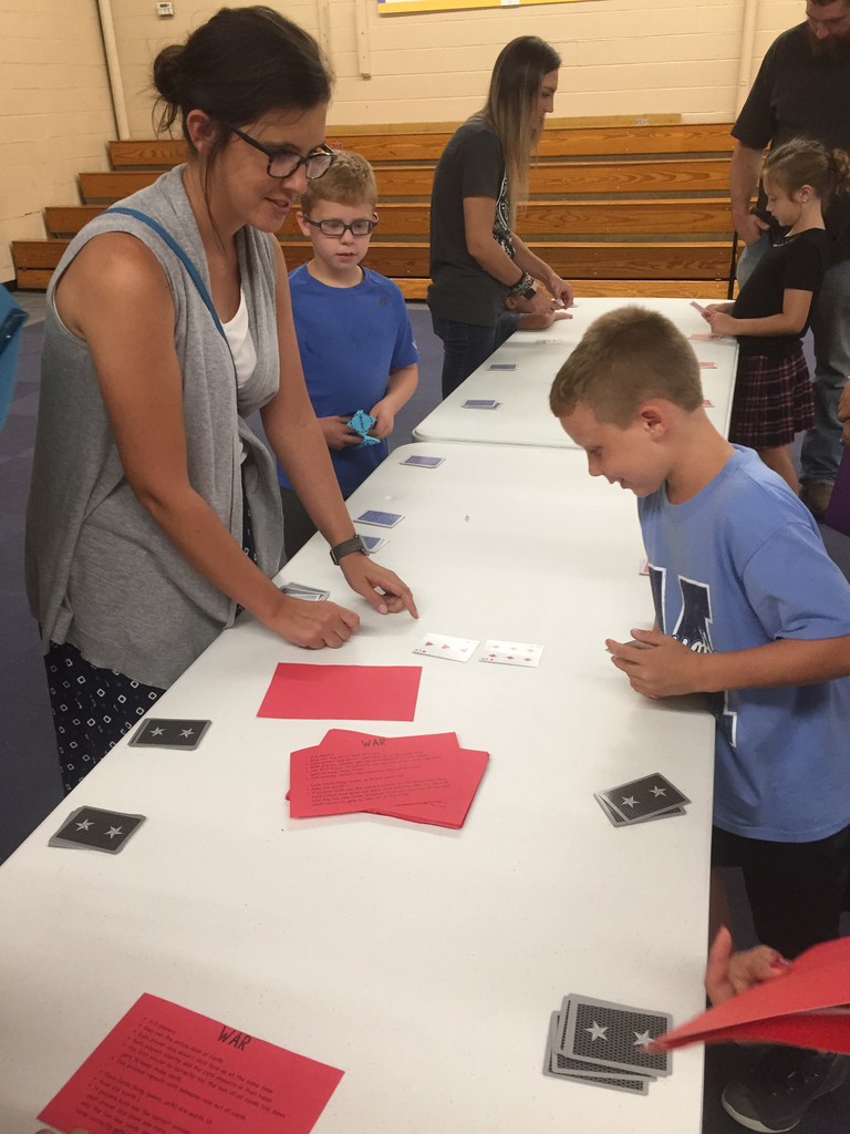 Parents learned to play games to sharpen students math skills