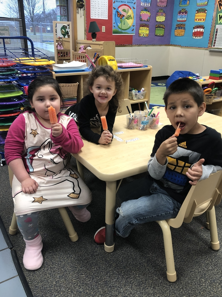 Learning about our letters with a cool treat!