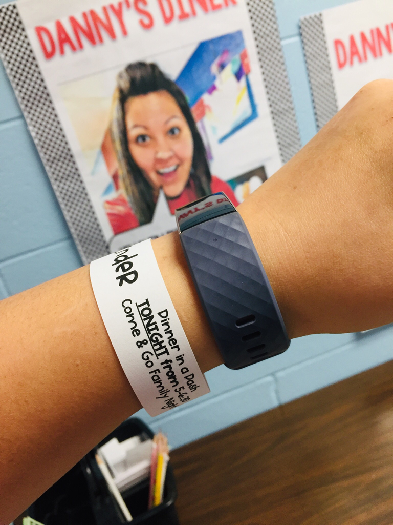 Check your students wrist for their reminder bracelets!