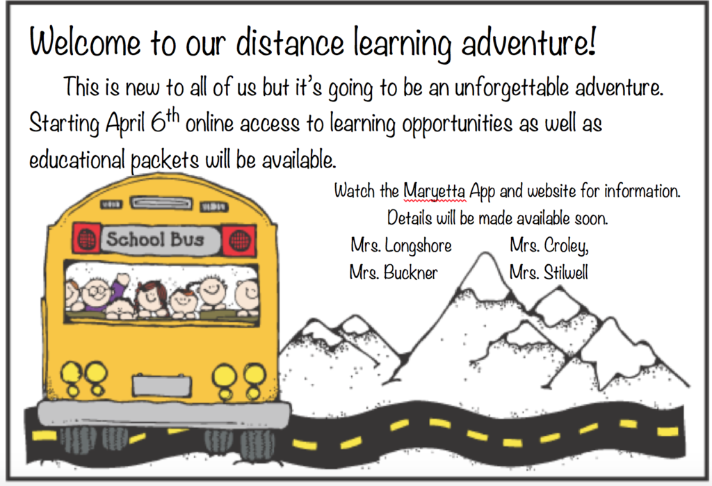 Welcome to our distance learning adventure!